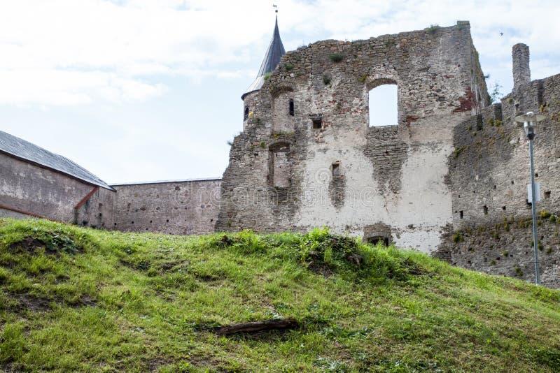 中世纪哈普沙卢主教城堡,爱沙尼亚 库存图片