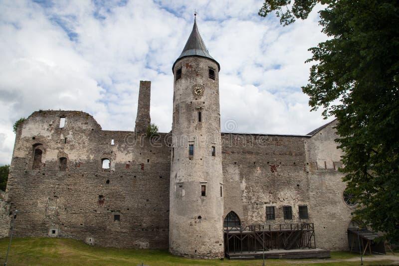 中世纪哈普沙卢主教城堡,爱沙尼亚 免版税库存图片