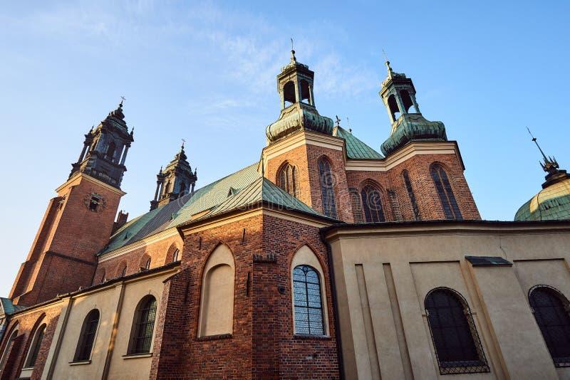 中世纪哥特式大教堂塔  库存图片