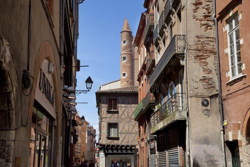 中世纪图卢兹镇 库存照片
