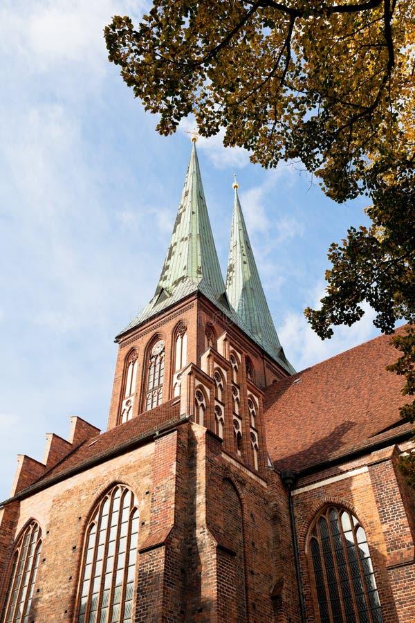 中世纪圣尼古拉教会在柏林 库存图片