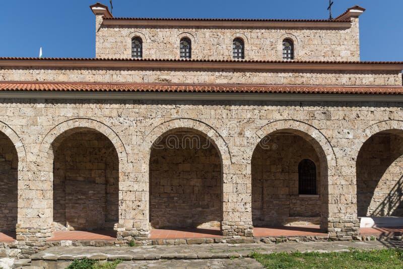 中世纪圣洁四十个受难者教会-东正教教会在1230年修建的在大特尔诺沃,保加利亚镇  免版税库存照片