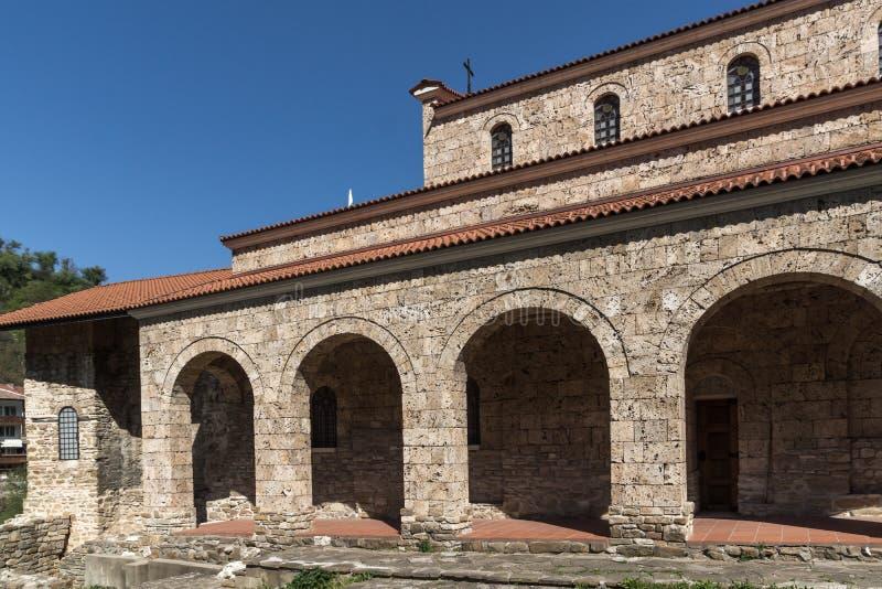 中世纪圣洁四十个受难者教会-东正教教会在1230年修建的在大特尔诺沃,保加利亚镇  免版税库存图片
