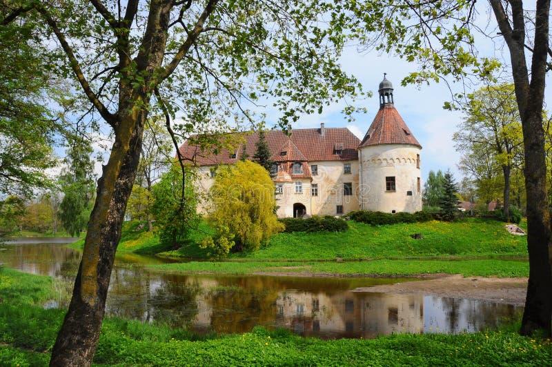 中世纪城堡在拉脱维亚 库存照片
