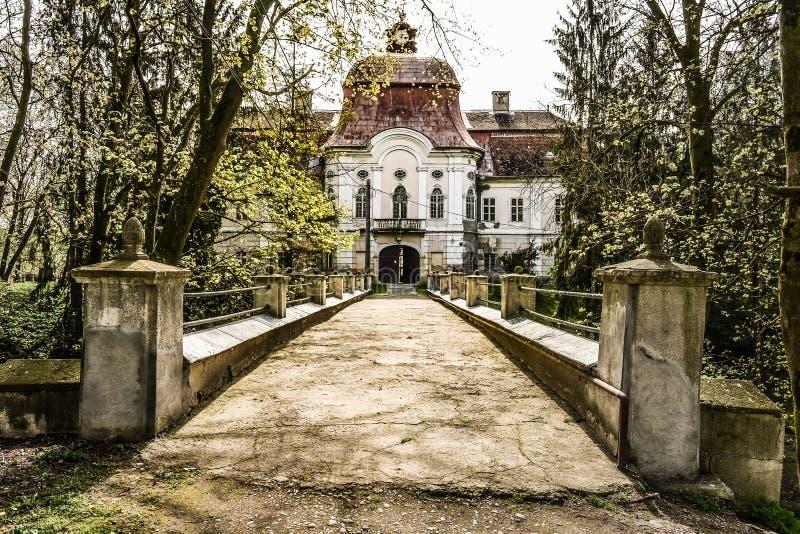 中世纪城堡在罗马尼亚, Gornesti 免版税库存图片