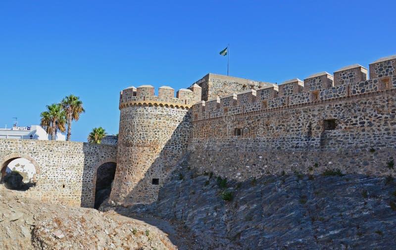 中世纪城堡在西班牙 免版税库存照片