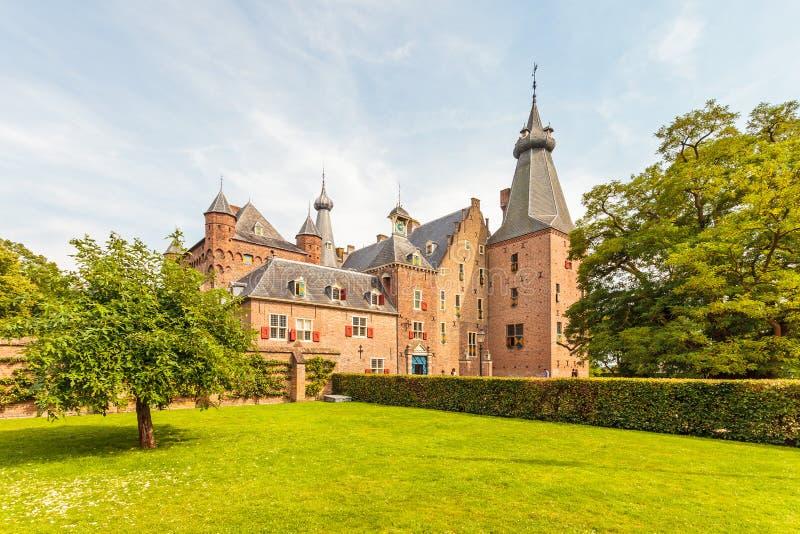 中世纪城堡在Doorwerth,荷兰 图库摄影