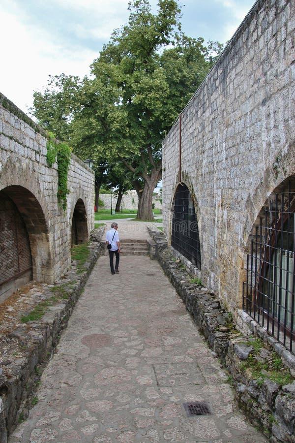 中世纪城堡堡垒castel在巴尼亚卢卡,波黑 免版税库存照片
