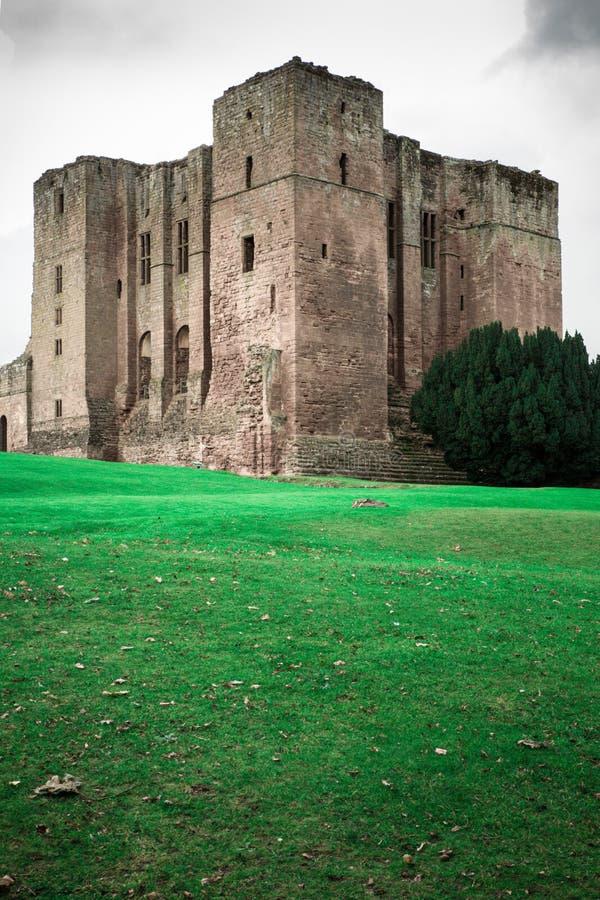中世纪城堡废墟,肯纳尔沃思堡,沃里克郡,英国 库存照片