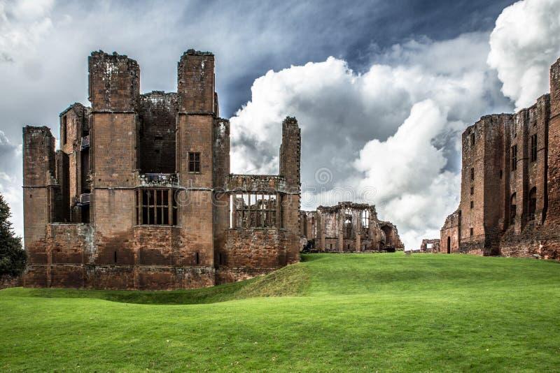 中世纪城堡废墟,肯纳尔沃思堡,沃里克郡,英国 库存图片