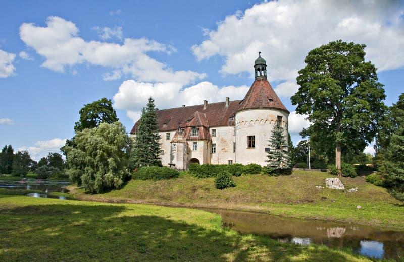 中世纪城堡的jaunpils 库存图片