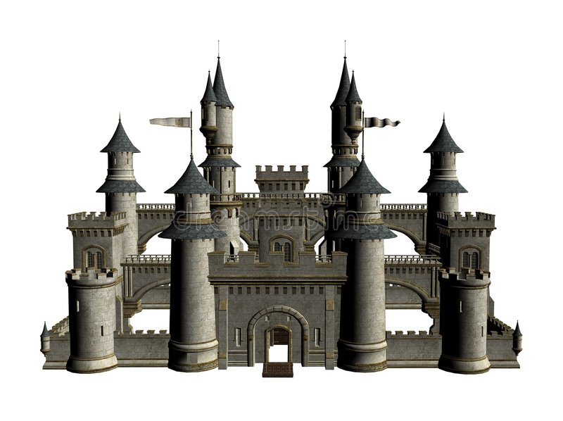 中世纪城堡设计  库存例证