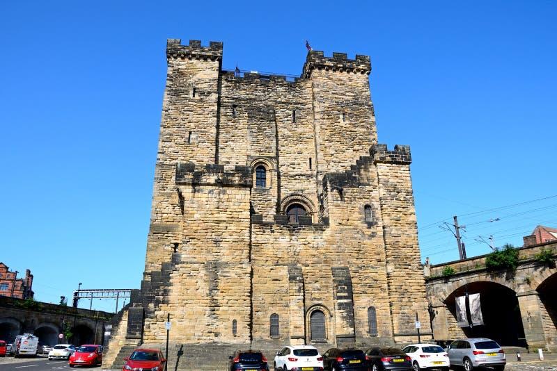 中世纪城堡,泰恩河畔纽卡斯尔 库存图片