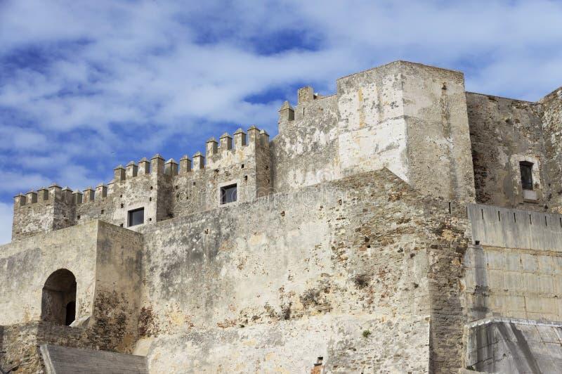 中世纪城堡, Guzman El布埃诺,塔里法角 免版税库存照片
