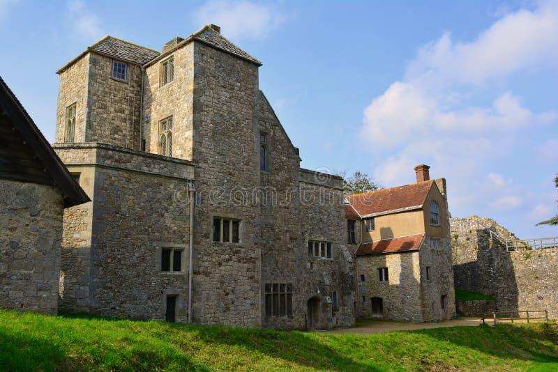 中世纪城堡Carisbrooke在纽波特,怀特岛郡,英国 图库摄影