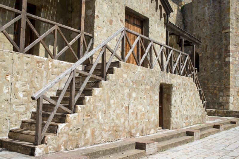 中世纪堡垒在斯梅代雷沃,塞尔维亚,多瑙河海岸的  库存照片