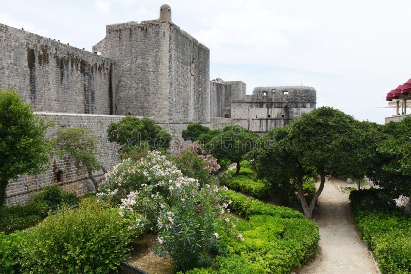 中世纪堡垒在杜布罗夫尼克,克罗地亚 库存照片