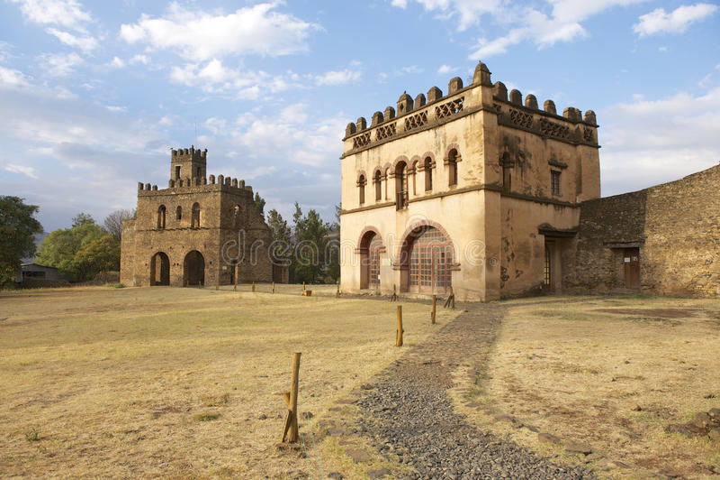 中世纪堡垒在贡德尔,埃塞俄比亚,联合国科教文组织世界遗产名录站点 图库摄影