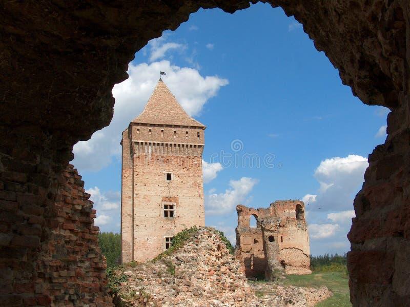 中世纪堡垒在Bac中,伏伊伏丁那,北部塞尔维亚 库存图片