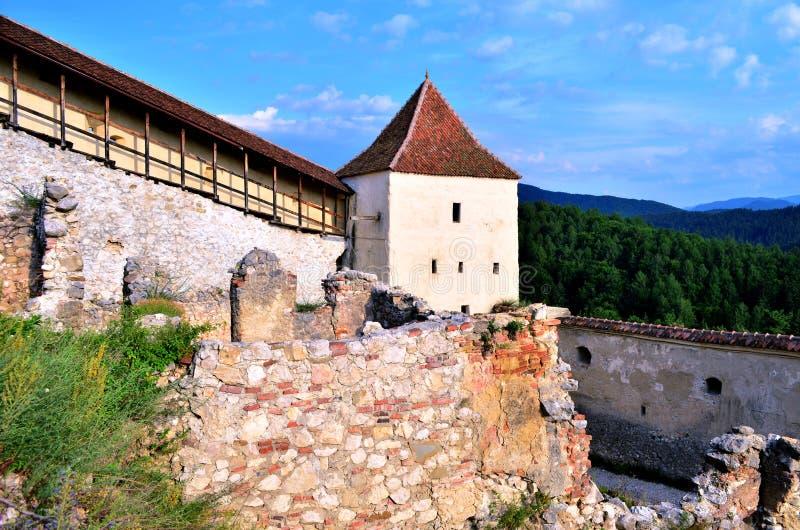 中世纪堡垒在Rasnov 免版税库存照片