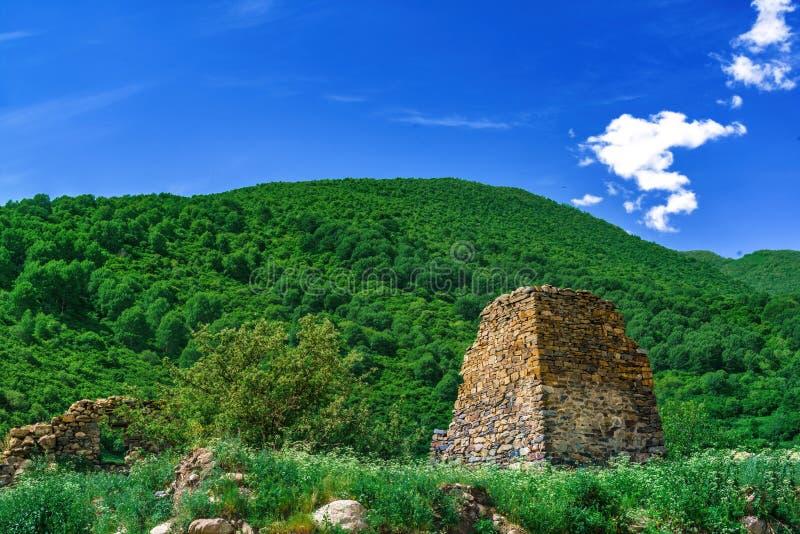 中世纪堡垒塔和设防废墟  图库摄影