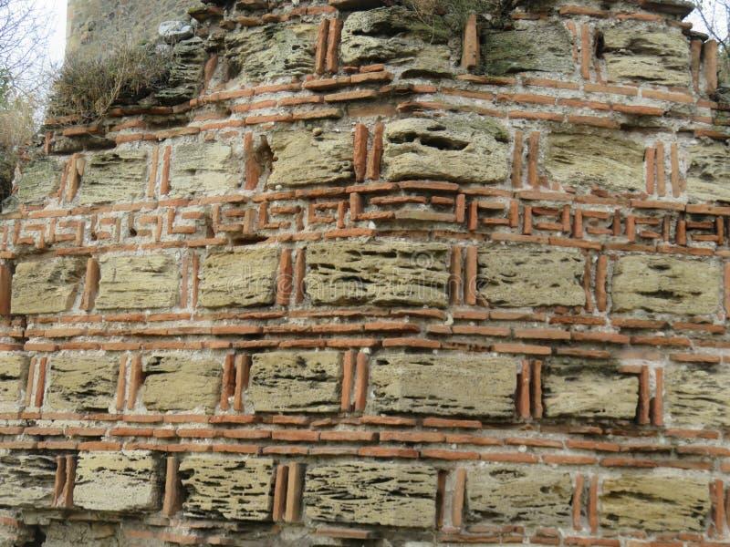 中世纪堡垒建筑图案的堡垒 免版税库存照片