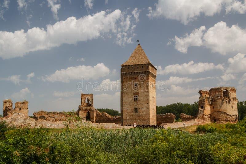 中世纪堡垒的废墟在Bac中 免版税图库摄影