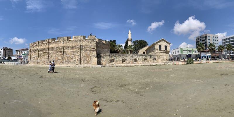 中世纪堡垒的看法在拉纳卡 免版税库存图片