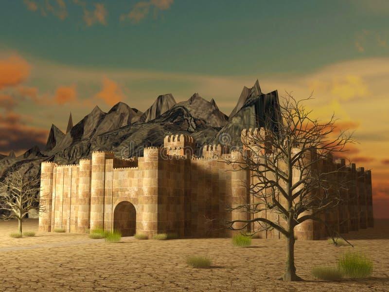 中世纪堡垒 皇族释放例证