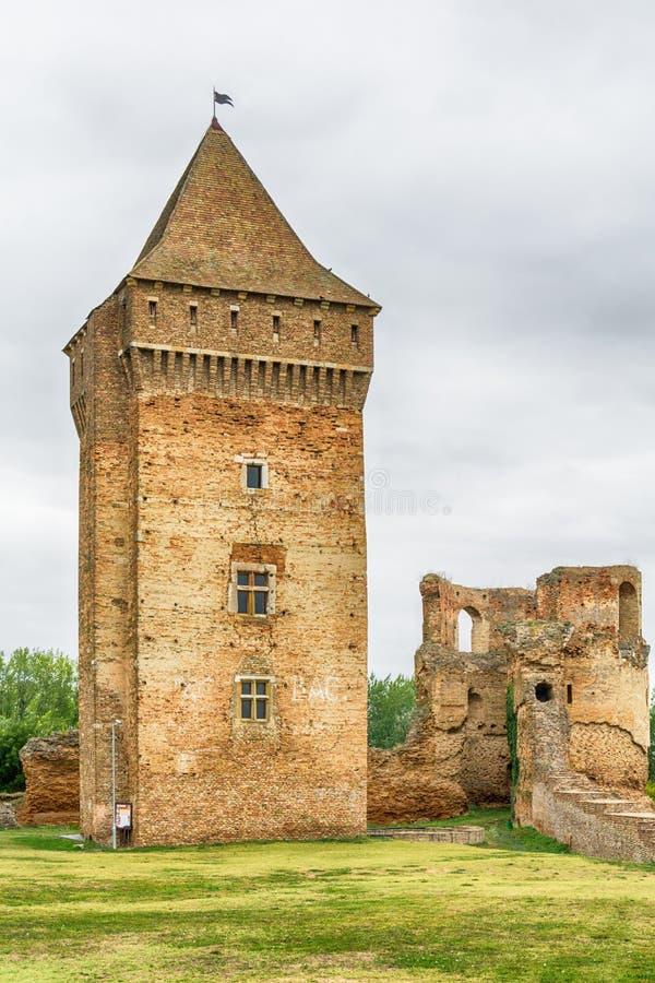 中世纪堡垒Bac在塞尔维亚 免版税库存照片