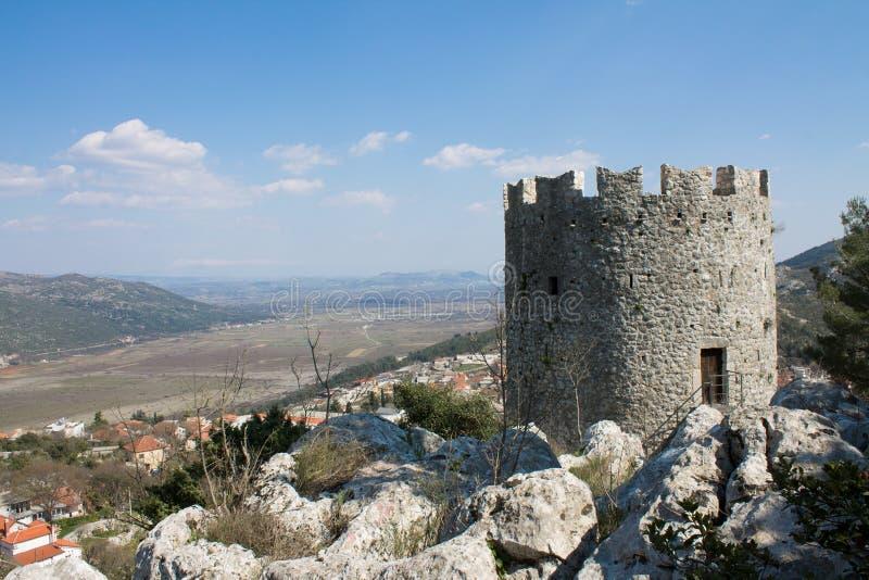 中世纪堡垒Vrgorac 免版税库存图片