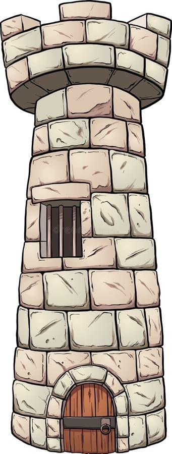 中世纪塔 库存例证