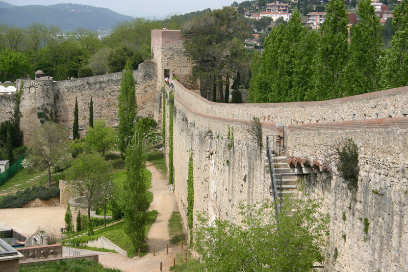 中世纪墙壁 免版税图库摄影