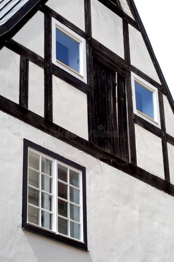 中世纪大厦看法在里加,拉脱维亚 免版税图库摄影