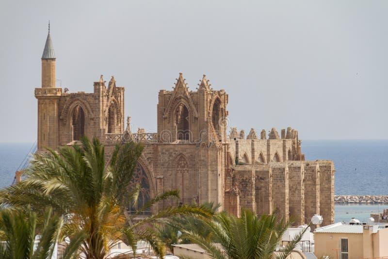 中世纪大教堂圣尼古拉斯(Lala穆斯塔法巴夏清真寺) 库存图片