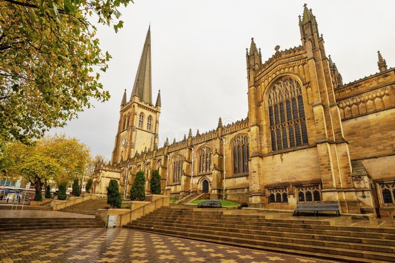中世纪大教堂在韦克菲尔德,英国 免版税库存图片