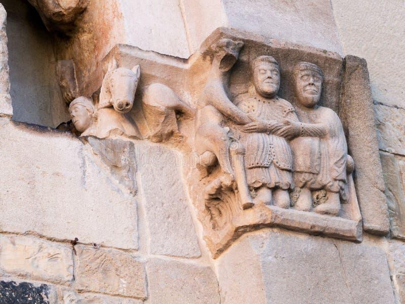 中世纪宗教,基督徒艺术圣玛丽外,圣玛丽亚Assunta教会在Fornovo,意大利 图库摄影