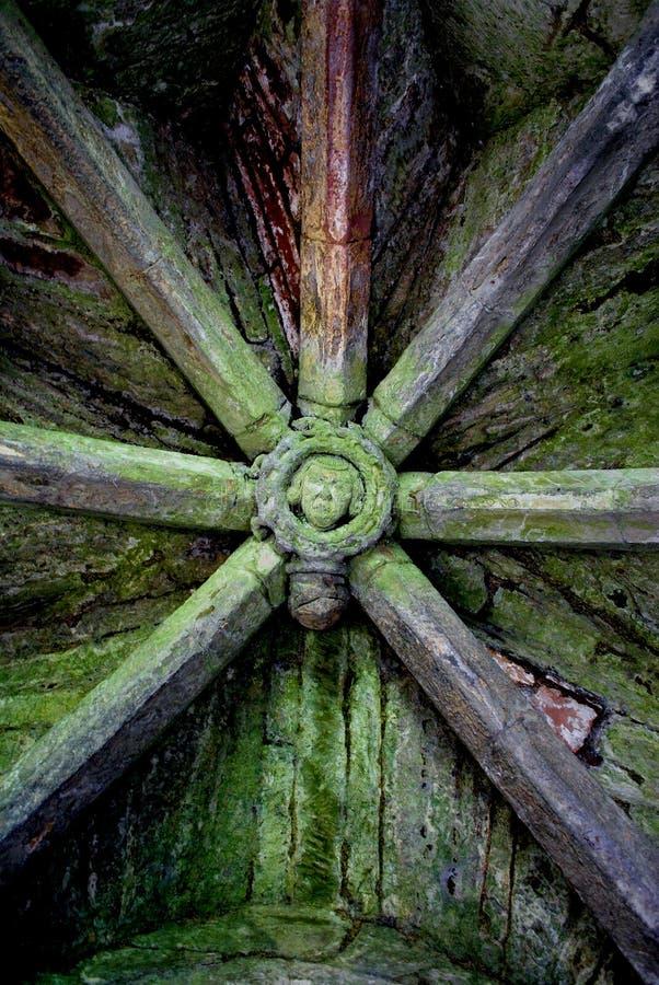 中世纪屋顶 免版税库存照片