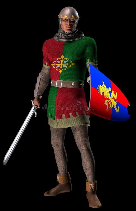中世纪战士 皇族释放例证