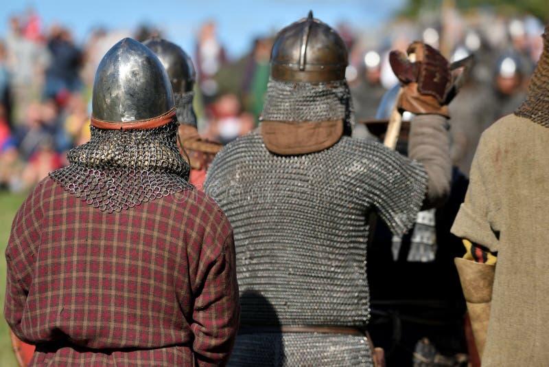 中世纪战斗在立陶宛 库存照片