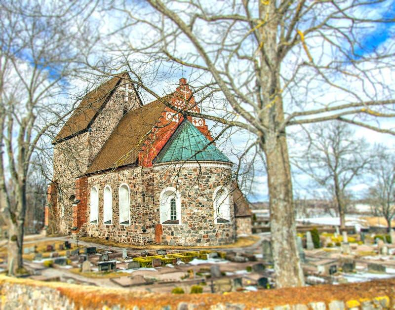 中世纪教会乌普萨拉瑞典 库存照片