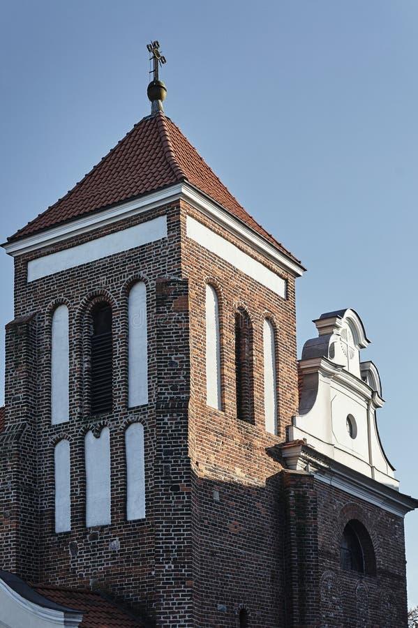 中世纪教会哥特式钟楼图片