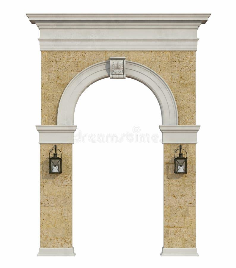 中世纪曲拱隔绝与 库存例证