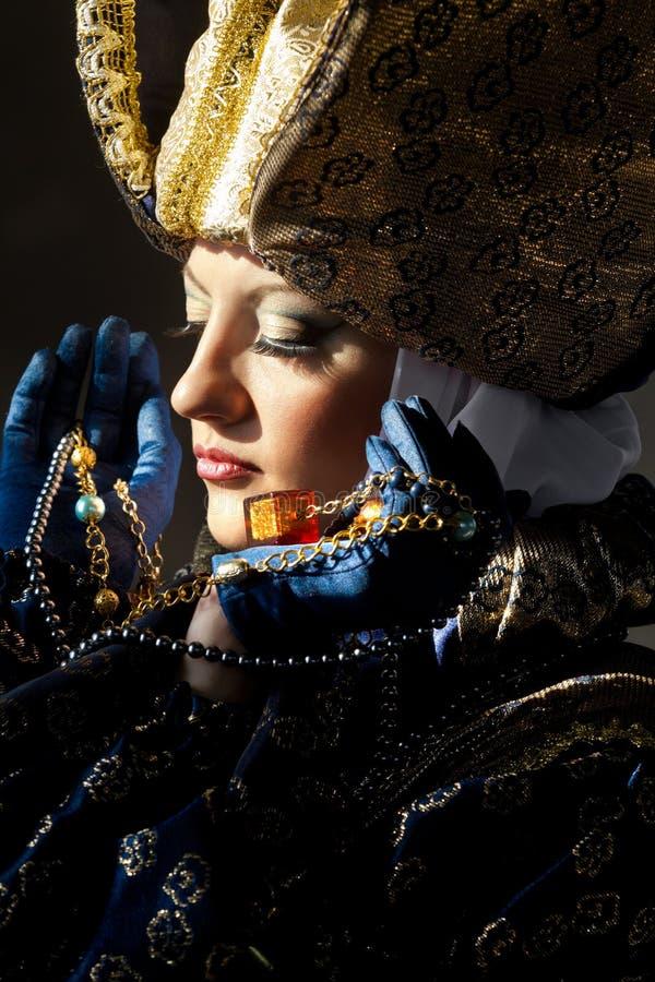 中世纪服装的妇女 库存照片