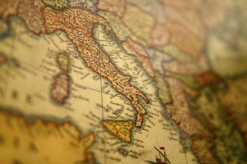 中世纪欧洲地图-意大利 免版税库存照片