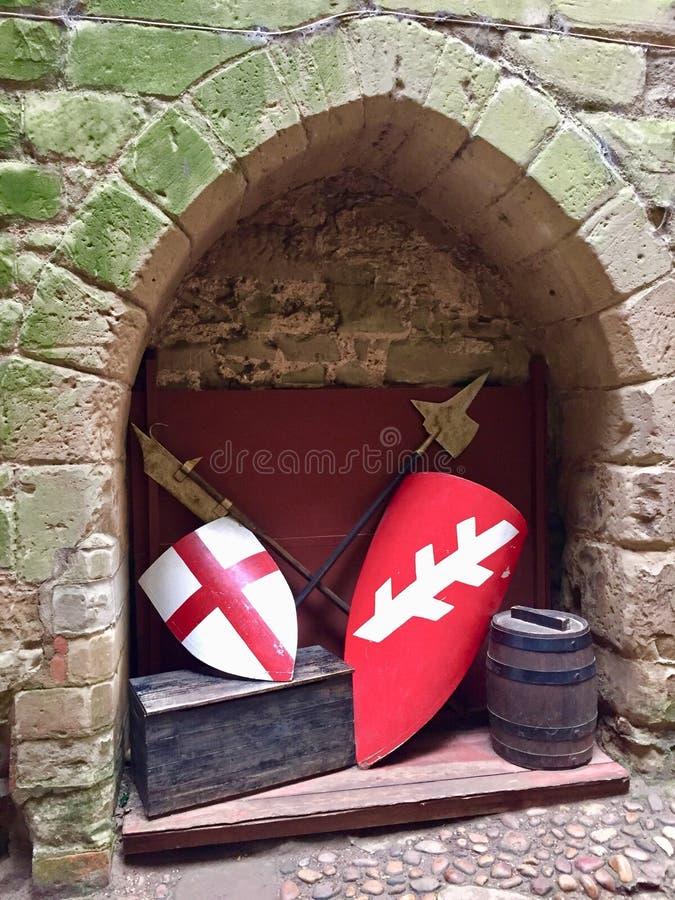 中世纪武器装备 库存图片