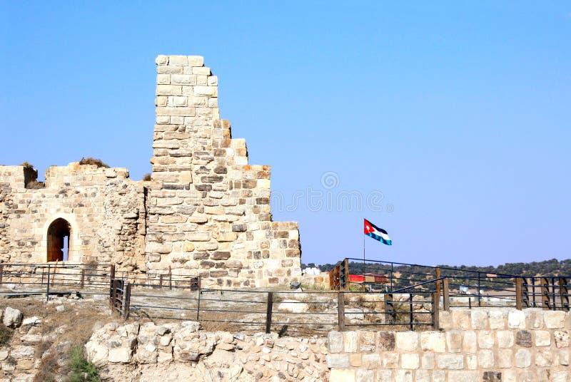 中世纪烈士防御,Al Karak,约旦 库存图片