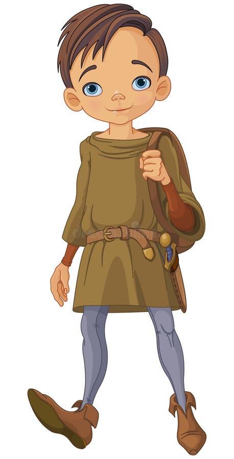 中世纪男孩 向量例证