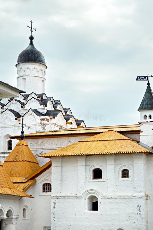 中世纪男性正统亚历山大Svirsky修道院,圣彼德堡,俄罗斯, XV世纪 免版税库存照片