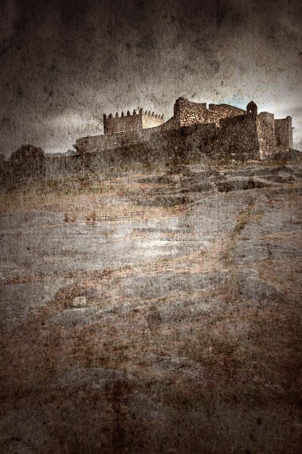 中世纪的城堡 皇族释放例证
